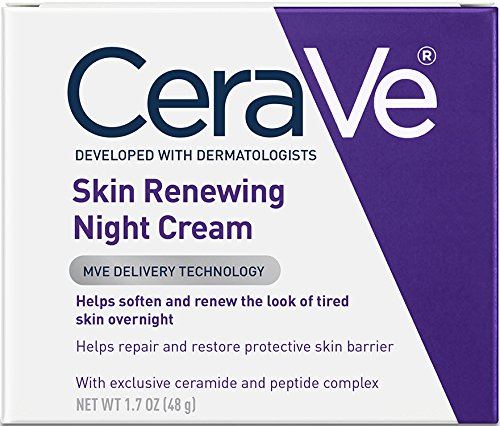 CeraVe Night Cream for Face | 1.7 Ounce | Skin Renewing Night Cream with Hyaluronic Acid & Niacinamide  | Fragrance Free (Best Drugstore Anti Aging Skin Care Products)