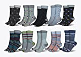 3KB Men's Dress Socks (10 Pairs Per Pack) - Variety of Patterns and Sizes (12-15, Strong Collection)