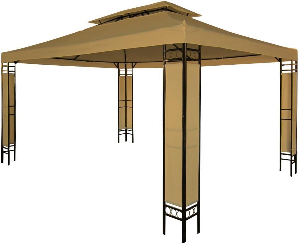 Miadomodo - Carpa para jardín y terraza color café de 3 x 4m: Amazon.es: Jardín