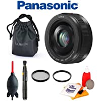 Panasonic H-H020AK Lumix G 20mm / F1.7 II ASPH Lens (Black) + Panasonic Lens Pouch + Giottos Blower + Lens Pen Cleaning System + Cleaning Kit