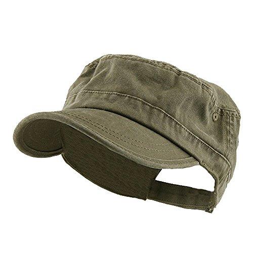 Enzyme Regular Solid Army Caps-Olive W35S45D (One Size)