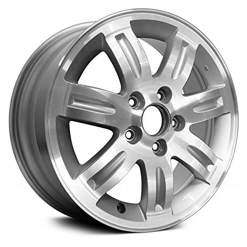 (Replacement 7 Spokes Machined with Silver Vents Factory Alloy Wheel Fits Honda CR-V )