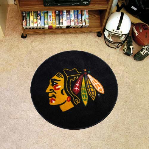 Coir Nhl Door Mat - Fanmats Chicago Blackhawks Puck Mat