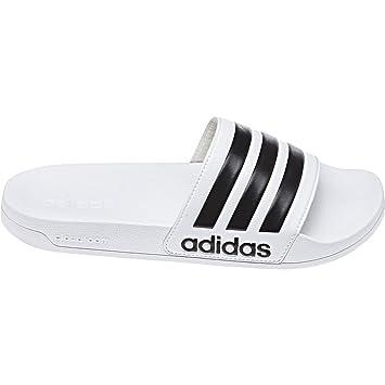 Adidas neo Adilette Cloudfoam Badeschuhe schwarz weiß blau rot ... 070fc4777b