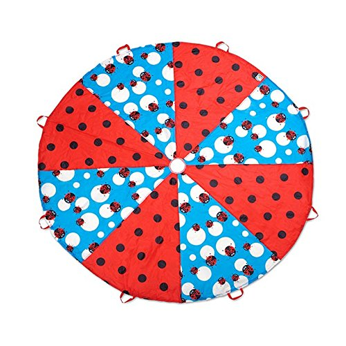 Pacific Play Tents Kids Lady Bug 8-Foot Parachute with handles & Carry Bag for Indoor/Outdoor Fun by Pacific Play Tents (Image #3)