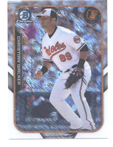 2015 Bowman Chrome Farm's Finest Mini #FFM-CW Christian Walker Orioles Baseball Card NM-MT ()