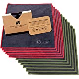 Clean & Clear Microfiber EXTRA LARGE [12 Pack] ULTRA PREMIUM QUALITY Lens Cleaning Cloths - Camera Lens, Glasses, Screens, and all Lens.