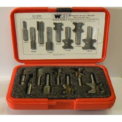 Whiteside Router Bits 600 Straight and Half Round Combo Set with 1/2-Inch Shank by Whiteside Router Bits by Whiteside Router Bits