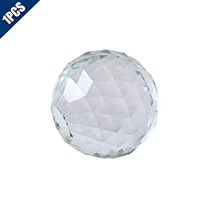 Comidox Clear Cut Crystal Sphere 50mm Faceted Gazing Ball Glass Ball Prisms Suncatcher Home Hotel Photography Décor (1Pcs) : Industrial & Scientific