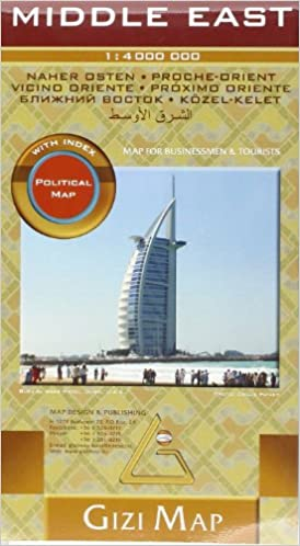 Gizi Map - Middle East Political Map 1:4 Mio.: Amazon.de: Gizi Map ...