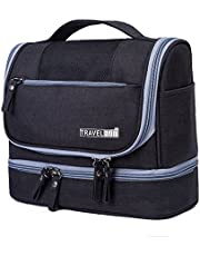 Travel Hanging Toiletry Makeup Cosmetic Bag Waterproof Organizer for Men and Women Accessories Toiletry Kit with Dry and Wet Separation 2-Layer Design by Refee