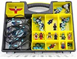Extra Large Pro Gamer Organizer With Carrying Handle And Removable Trays - Compatible With All Lego Dimensions Mini Figures
