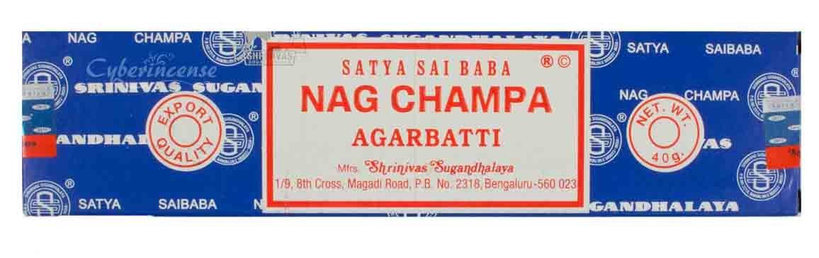 Satya Sai Baba Nag Champa Incense in the Medium Box of 40 grams Windrose Trading Company /並/行/輸/入/品