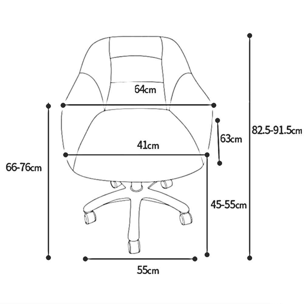 Svängbara datorstolar, ergonomisk, mjuk kudde, justerbara justerbara bordsstolar, nylonbas hem kontorsstol, lätt att montera (färg: gul) gUL