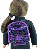 Purple Sequin Backpack 18 Inch Doll Clothes - Fits 18