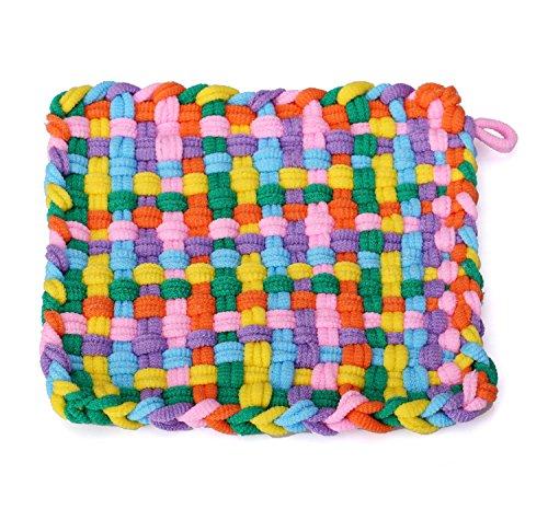 genmine 7 Weaving Loom Craft Loop Weave Loom Toy Yarn Craft Kit Set DIY Girls Weaving Dreams Plush Bag Backpack Toy Learn to Weave Weaving Frame Loom
