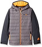 ZeroXposur Big Boys' Agent Quilted Lightweight Jacket, Iron, Large