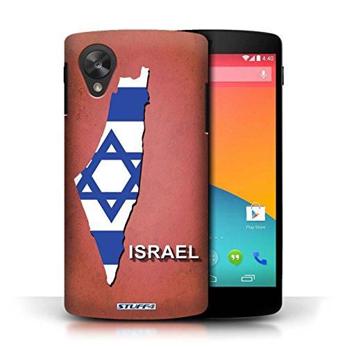 Kobalt® Imprimé Etui / Coque pour LG Google Nexus 5/D821 / Israël/Israélien conception / Série Drapeau Pays