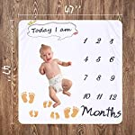Baby-Monthly-Milestone-Blanket-Soft-Baby-Flannel-Blanket-Large-47-Inch-x-47-Inch-Infant-Girl-Boy-Milestone-Blanket-Photo-Prop-Blanket-Baby-Shower-Gift