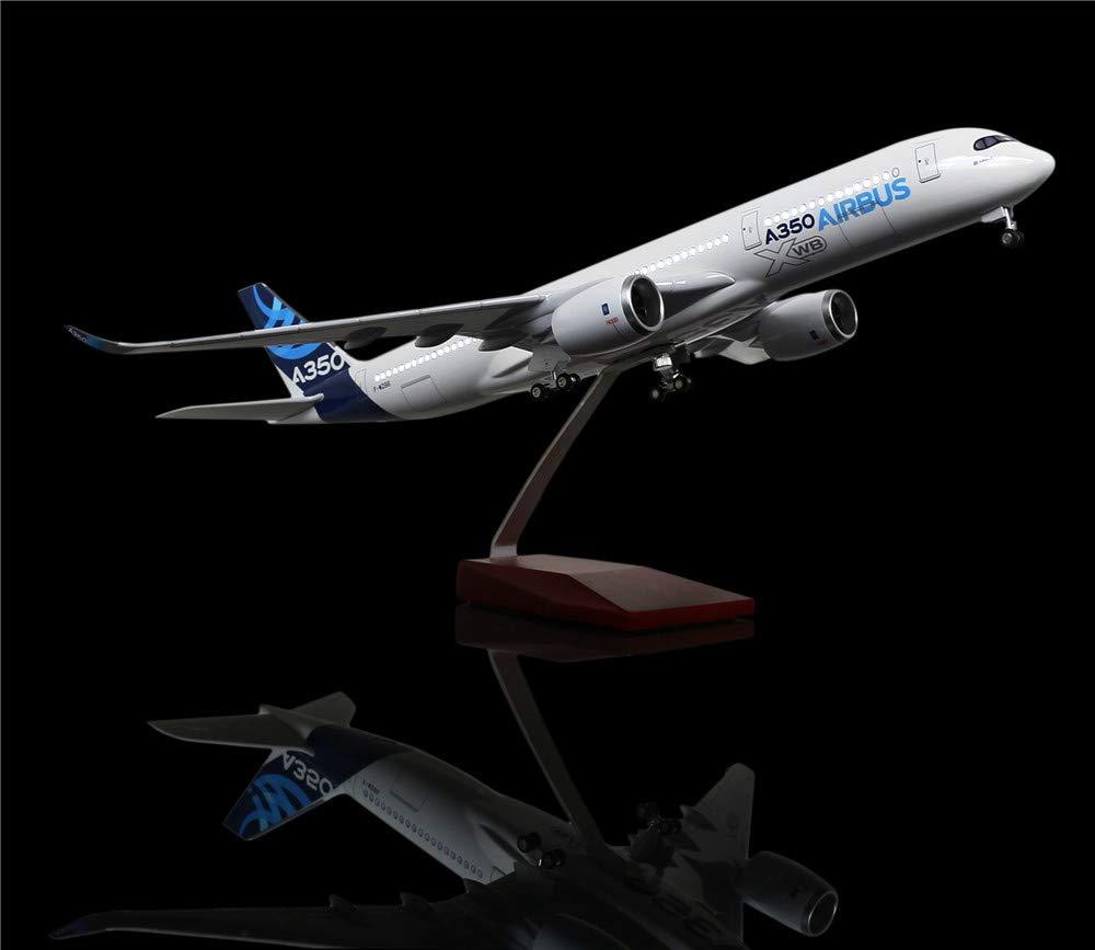 LESES 1:160 スケール LED ライト モデル 飛行機 エアバス 350 18インチ 樹脂 ディスプレイ 飛行機 モデル B07KTMMGGQ