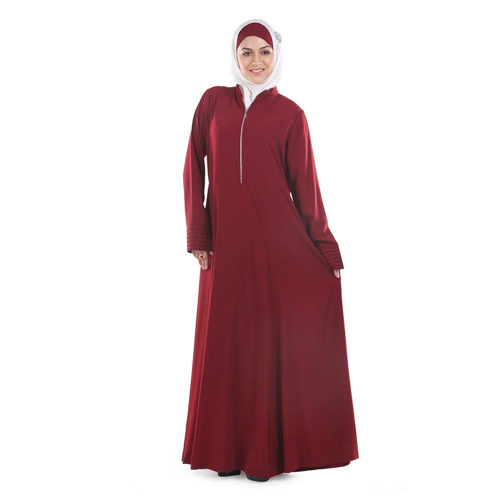 Momin Libas Women's Aaminah Front Open Zipper Long Dress Abaya