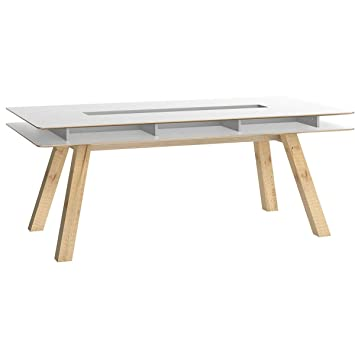 Miliboo Design With Niches Dining Table 200 Cm Witty Amazon Co