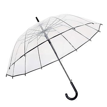 Paraguas Transparente AutomáTico, Mujer De Viaje Personalidad A ...