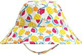 Coolibar UPF 50+ Baby Cotton Cap - Sun Protective (6-12 Months- Summer Fruits)