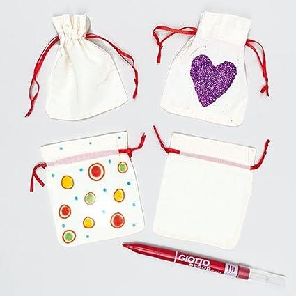 Amazon.com: Mini cordón de tela bolsas de dulces para niños ...