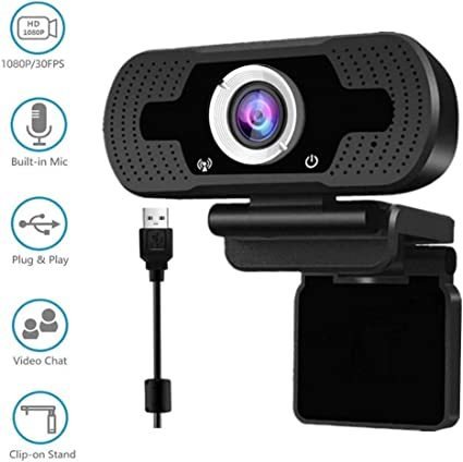 HD 1080p Webcam Built in Microphone Desktop Computer Laptop USB Web Camera for Streaming,Video Calling Recording,Chatting Webinars Gaming Distance Learning