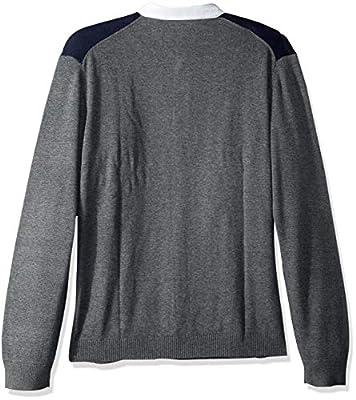 Calvin Klein Men's Wool Stripe Rugby