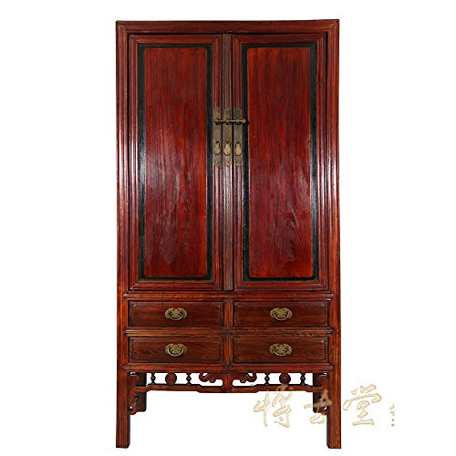 Chinese Antique Carved Beech wood TV Armoire 13LP17 ()