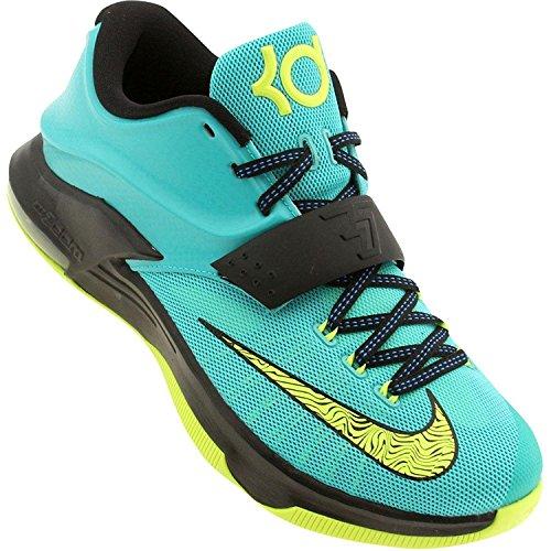 Nike Mens KD VII Uprising Basketball Shoes, Gree/Blk/Blu, 45 EU/10 UK