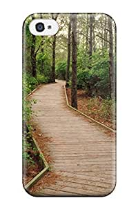 CharlesRaymondBaylor Premium Protective Hard Case For Iphone 4/4s- Nice Design - Pathway In The Forest