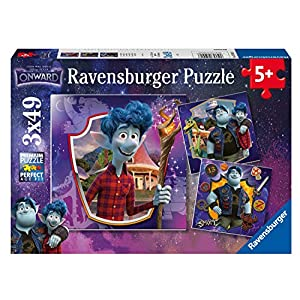 Ravensburger 05091 Disney Onward-3 x 49 Jigsaw Puzzles-for Kids Age 5 Years & up-Every Unique, Pieces fit Together Perfectly