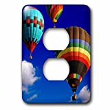 3dRose lsp_154982_6 Hot Air Balloons Racing in the Blue Sky 2 Plug Outlet Cover