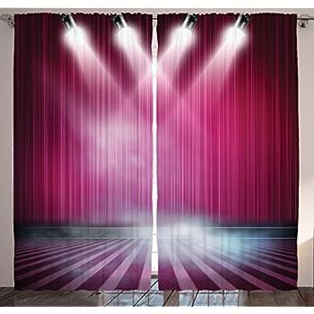 Amazon.com: cololeaf Home Theater Movie Velvet Christmas Curtain ...