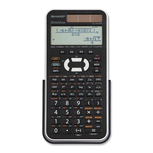 Wholesale CASE of 10 - Sharp 556 Fnctn 4-Line Solar Scientific Calculator-Scientific Calculator,12-Digit,3-1/4''x6-1/2''x1/2'',BK/SR