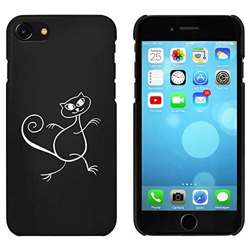 Schwarz 'Tanzende Katze' Hülle für iPhone 7 (MC00056379)