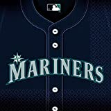 Sports and Tailgating MLB Party Seattle Mariners Luncheon Napkins Tableware, Paper, 6'' x 6'', Pack of 36