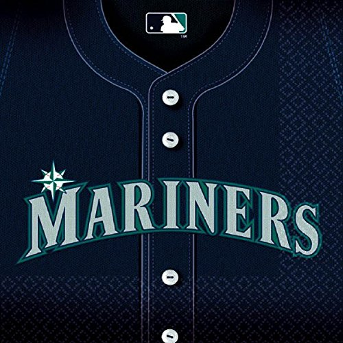 Sports and Tailgating MLB Party Seattle Mariners Luncheon Napkins Tableware, Paper, 6