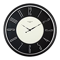 Studio Designs Home 73000 29 Modern Raised Numeral Wall Clock,Black