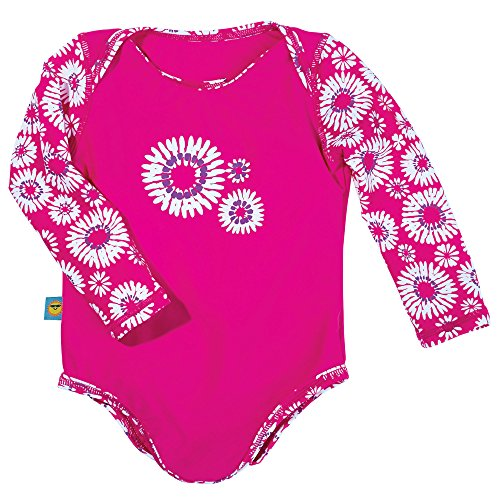 Sun Smarties Infant Girls Daisy One Piece Long Sleeve Swimsuit 18-24M Hot Pink