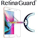 RetinaGuard Anti-Blue Light Tempered Glass Screen Protector for iPhone 8 Plus - SGS & Intertek Tested - Blocks Excessive Harmful Blue Light, Reduce Eye Fatigue and Eye Strain (Transparent)