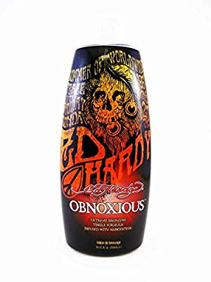 Ed Hardy Obnoxious Extreme Bronzer Tingle Tanning Lotion, 10 oz.