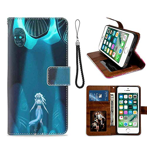 Wallet Case Fit iPhone 6S/6 (4.7-Inch) Princess of Atlantis The Lost Empire of Atlantis Shockproof ()