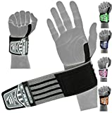 EMRAH HEAVY DUTY Wrist Wraps (PAIR) ''LIMITED DEAL''- Wrist Support Braces for Men & Women - Weight Lifting, Crossfit, Powerlifting, Strength Training (Grey)