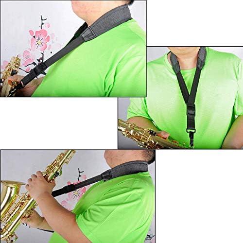 Correa de cuello para saxofón con cómodo acolchado suave, cinturón ...