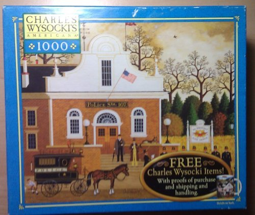 Charles Wysocki Americana Series 1000 Piece Puzzle - Roll Call With A Bang by Hasbro