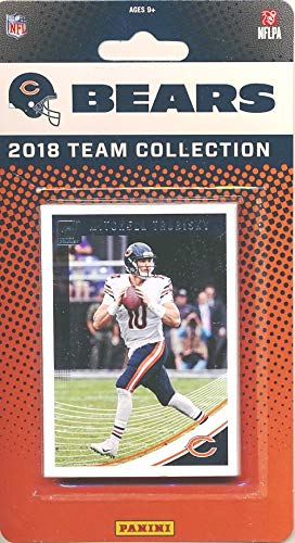 Chicago Bears 2018 Donruss NFL Football Factory Sealed Limited Edition 11 Card Complete Team Set Mitchell Trubisky, Jordan Howard, Tarik Cohen, 2018 Hall of Famer Brian Urlacher & Many More! ()